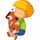 Little Boy with Dog - GraphicRiver Item for Sale