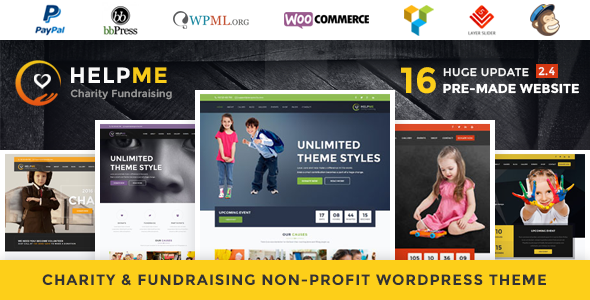 HelpMe - Nonprofit Charity WordPress Theme - Charity Nonprofit