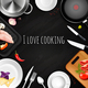 Love Cooking Realistic Background
