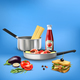 Realistic Kitchen Tools Food Composition