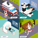 Medical Technologies Isometric Concept