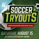 Soccer Tryouts Flyer Templates - GraphicRiver Item for Sale