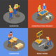 Builders Isometric Design Concept