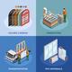 PVC Windows Isometric Concept