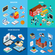 Education Isometric 2x2 Design Concept