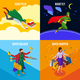 Super Heroes Isometric Design Concept
