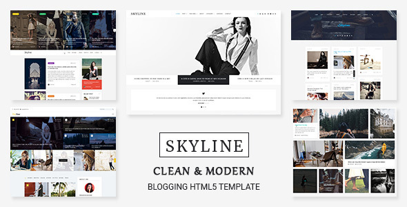 Image of Skyline - HTML5 Template for Bloggers, News and Magazine