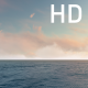 Orange Cirrus Clouds on the Blue Sky Over the Ocean - VideoHive Item for Sale