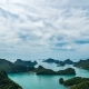 Tropical Limestone Rocks Rising From Water at Angthong National Marine Park in Thailand - VideoHive Item for Sale