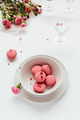 Delicious Strawberry Macarons in Bowl - PhotoDune Item for Sale