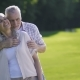 Portrait of Passionate Senior Couple on Green Lawn - VideoHive Item for Sale