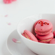 Strawberry Macarons in White Bowl on White Background - PhotoDune Item for Sale