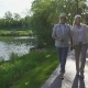 Beautiful Senior Couple Walking in Summer Park - VideoHive Item for Sale