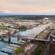 Aerial View Thea Foss Waterway Tacoma Washington Mt Rainier Visible - PhotoDune Item for Sale