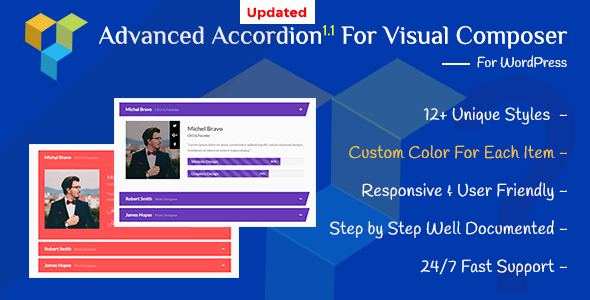 Advanced Accordions Addon for Visual Composer Page Builder - CodeCanyon Item for Sale