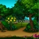 A Garden with Ripe Fruit. Vector Cartoon Close-up
