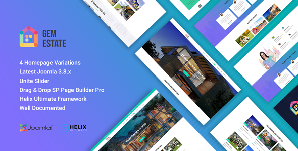 Image of GemEstate Real Estate, Propety Joomla Template