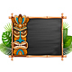 Tiki Mask And Chalkboard
