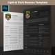 Dark & Light Resume / CV Template - GraphicRiver Item for Sale