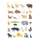Flat African, Jungle and Forest Animals. Cute