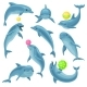 Blue Dolphins Set - GraphicRiver Item for Sale