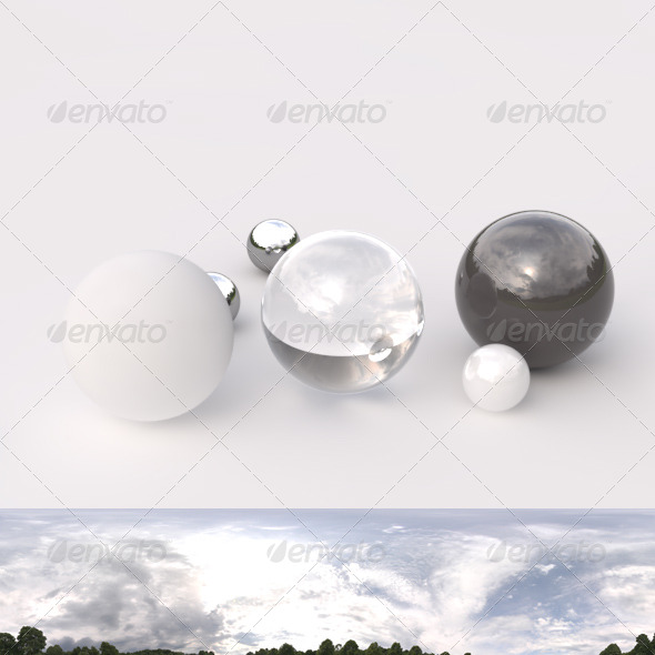 HDRI spherical panorama - 1630- cloudy sky - 3DOcean Item for Sale