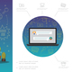 Flat E-Learning Infographic Template