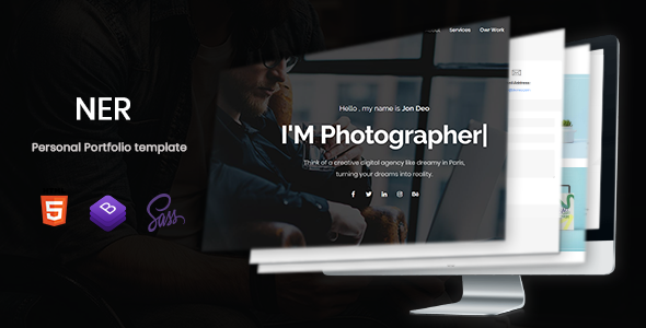 Image of Ner - Personal Portfolio Template