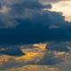 Moving Dramatic Clouds On Blue Sky - VideoHive Item for Sale