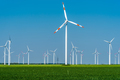 Modern wind turbines on a sunny day  - PhotoDune Item for Sale