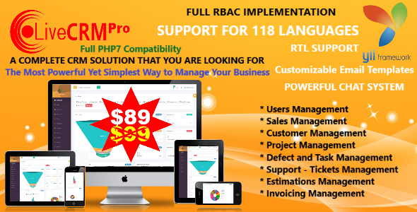 Live CRM Pro with PHP 7 Powerful CRM - CodeCanyon Item for Sale