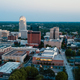 Aerial View as Night Falls on the Downtown City Skyline at Winston Salem - PhotoDune Item for Sale