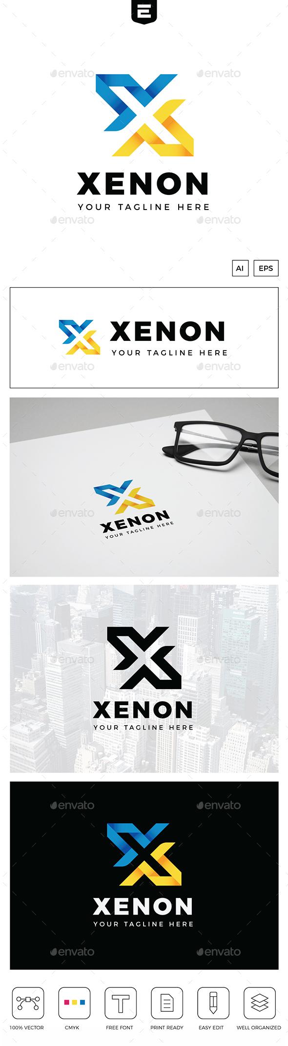 Xenon Letter X Logo - Letters Logo Templates