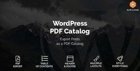 WordPress PDF Catalog - CodeCanyon Item for Sale