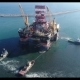 Drilling Platform in the Port. Towing of the Oil Platform - VideoHive Item for Sale