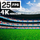 White Flying On Grass In Stadium 4K - VideoHive Item for Sale