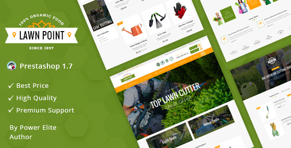 Image of Lawn Point - Responsive Prestashop 1.7 Theme
