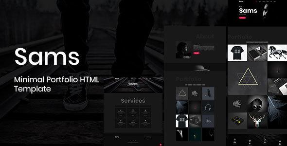 Sams - Minimal Portfolio HTML Template - Portfolio Creative