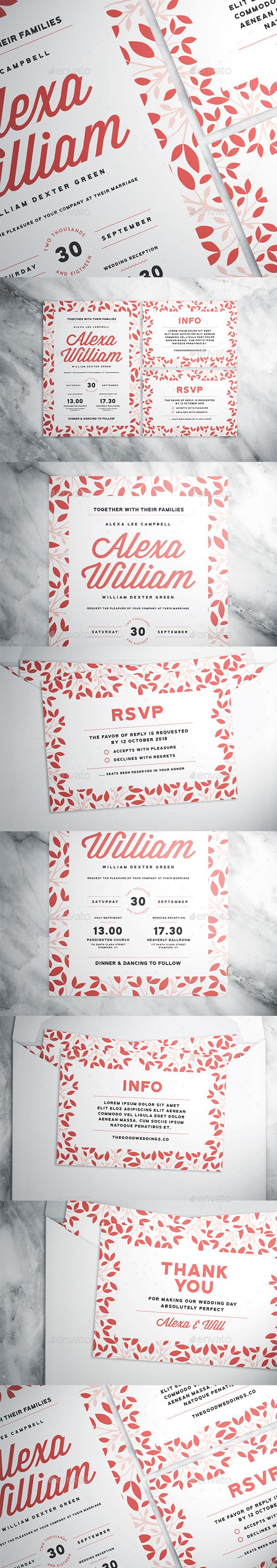 Floral Wedding Suite - Print Templates