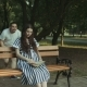 Affectionate Man Embracing His Pregnant Wife in Park - VideoHive Item for Sale