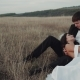 Amazing Bride and Groom in the Middle of Landscape Laying Down Bride Touching Romantic His Face - VideoHive Item for Sale