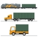Land Freight Trucking and Railway Services - GraphicRiver Item for Sale