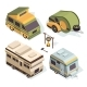 Isometric Camping Cars
