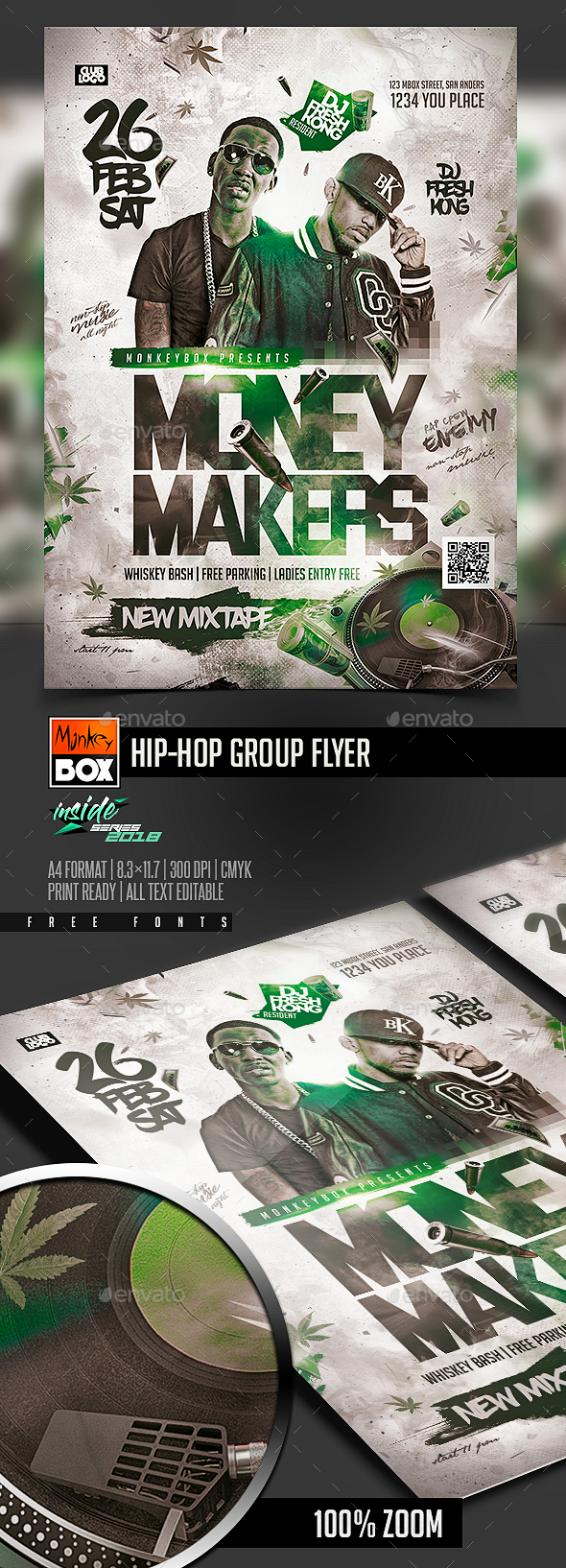 Hip-Hop Group Flyer - Events Flyers