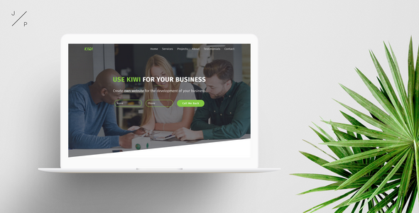 KIWI - Startup Business Muse Template - Corporate Muse Templates