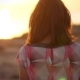 Lonely Girl Walking at Sunset Coast. Woman Enjoying Summer Walk - VideoHive Item for Sale