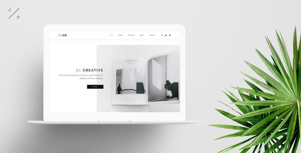 SAGE - Creative Agency Portfolio Muse Template - Creative Muse Templates