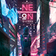 Synthwave Flyer v7 Cyberpunk World Retrowave Poster Template - GraphicRiver Item for Sale