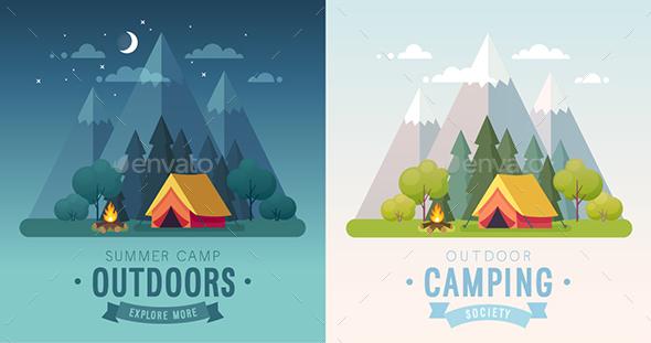 Summer Camping - Miscellaneous Seasons/Holidays