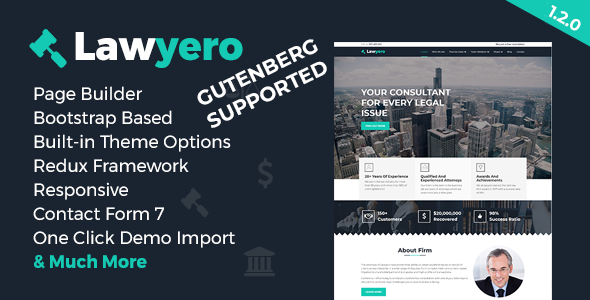Lawyero - Attorneys & Lawyer WordPress Theme